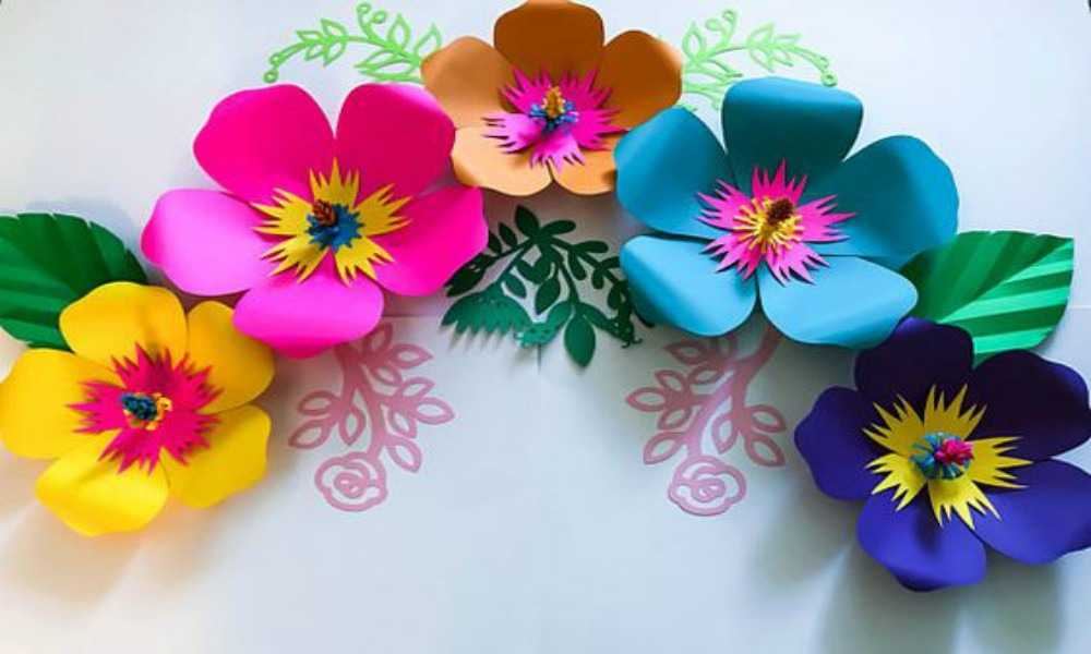 Terminar tus Flores de Cartulina