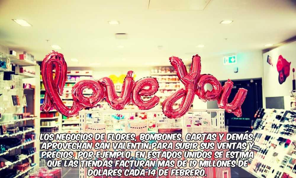 Tienda y Comercios de San Valentín