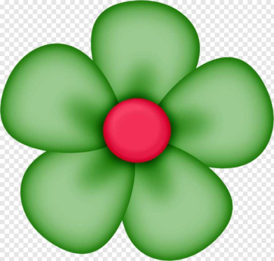 flores verde